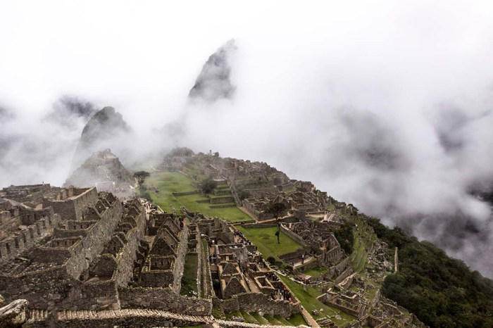 overview of Machu Picchu in Peru